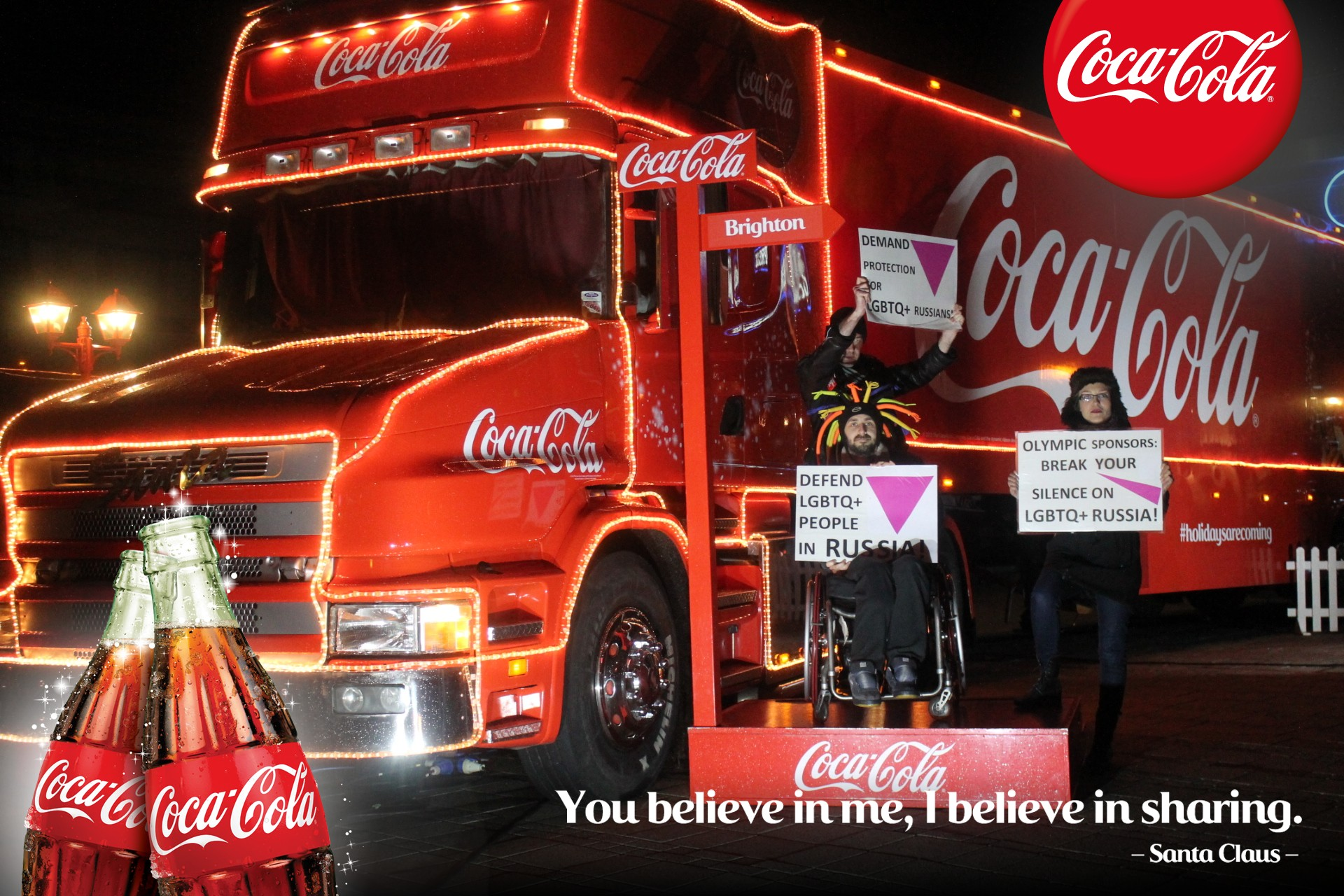Coca-Cola publish photos of protest against themselves – and then delete them!